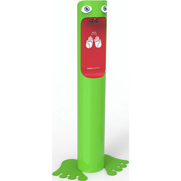AeroCare Kids GSM wolnostojący dozownik do dezynfekcji rąk dla dzieci w postaci żabki