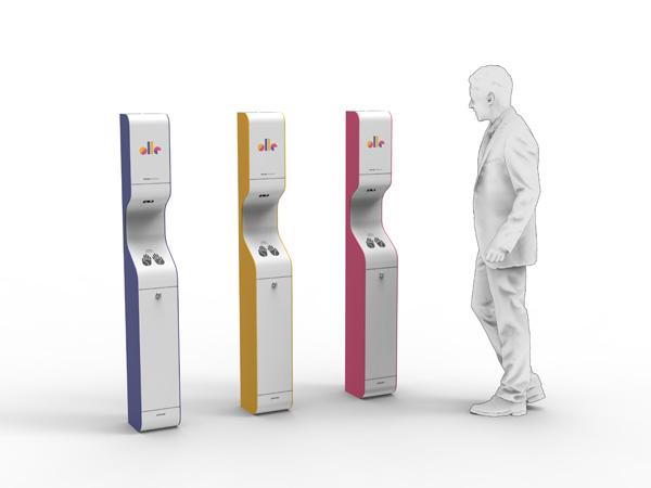 AeroCare Advance automat do bezdotykowej dezynfekcji rąk atomizerem branding